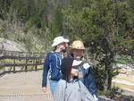 Girls at Mammoth Hot Springs