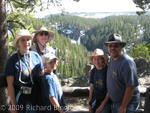 Family with view of Upper Falls